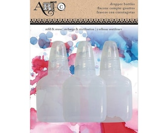 Art-C dropper bottles, set of three empty dropper bottles for alcohol inks and more!