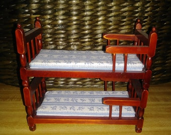 Miniature  Bunk Bed w/Mattresses