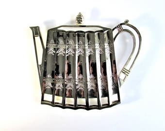 Silver Teapot Stand, Museum Recreation of Antiques by Godinger, Vintage, 1992