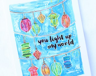 CARD - You Light Up My World