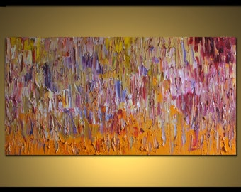 """no31 Huge Painting - Original Large Abstract Modern Art Oil Painting - Michel Campeau MADE-TO-ORDER 36''x72"""""""