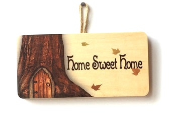 Home Sweet Home Country Wooden Sign