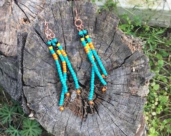 Dangle Seed Bead Earrings