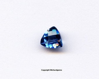 5 mm Stunning Trillion Checkerboard cut London Topaz For One