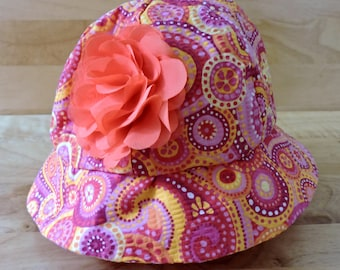 Flower and Paisley Toddler Sun Hat