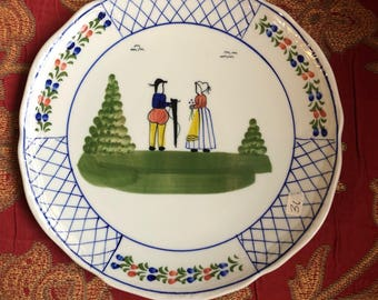 French Countey Provence Peasant Plate