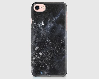 Black Night Sky Design, Space Print, Galaxy Design, Protective Phone Case Cover iPhone 7, iPhone 6 iPhone 5 Galaxy Samsung \ hc-pp028
