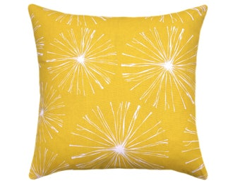 Yellow Outdoor Throw Pillow, Outdoor Pillow Covers, Sparks Pineapple Outdoor Cushion Cover, Yellow and White Pillows, Yellow Accent Pillow