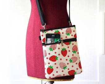 Small cross-body bag, Travel cell phone purse, Smart phone purse, Passport bag, Small travel bag
