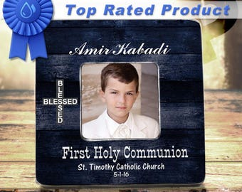 FIRST COMMUNION- First Communion Gift First Holy Communion 1st Communion First Communion Boy 1st Communion Gift Communion Keepsake Frame