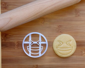 Smiling Face with Closed Eyes Emoji Cookie Cutter / Biscuit Cutter 3D Printed