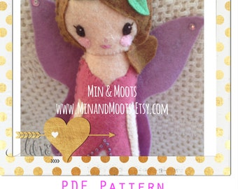PDF PATTERN: A Splendid Tale, Fairy Doll. Instant Download. Softie Pattern. Plushie Pattern. Felt Doll Pattern.