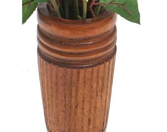Large Wood Vase