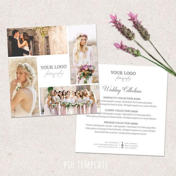 Wedding Photography Checklist: Wedding Photography Price List Template. Marketing