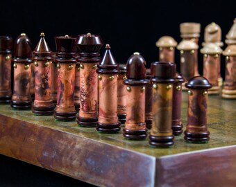 Custom Handmade Steampunk Chess Set