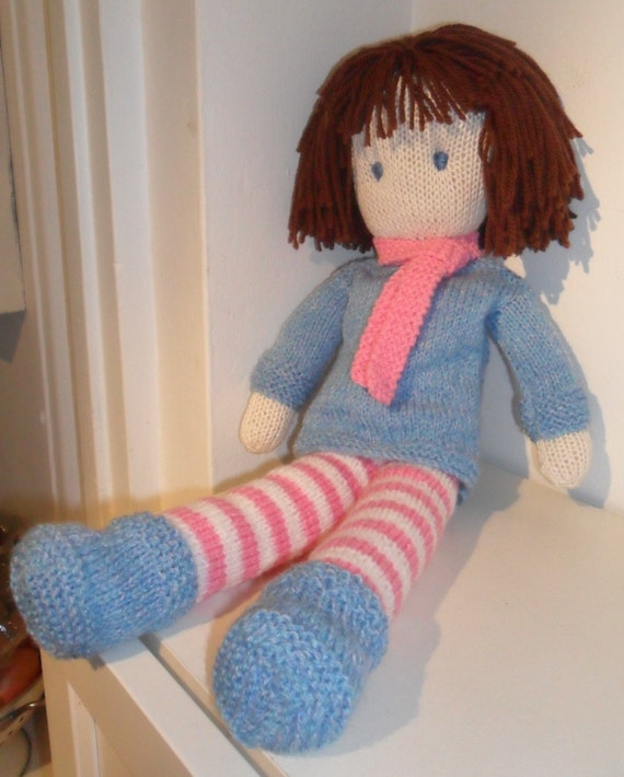 Rag Doll Knitting Pattern pdf Instant Download