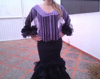 Fringes of flamenco, made with mauve Cuquillo, Van Independent and can be worn with any dress or blouse.  Original
