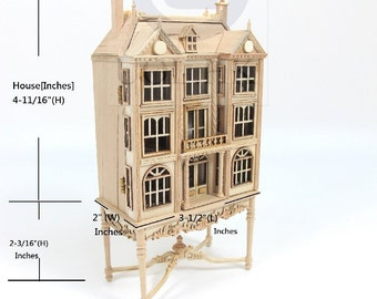 1:144 Scale Miniature Doll House On 1 scale Table [Unfinished]