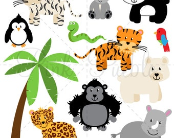 Zoo Animals SVGs 2, Zoo Safari Jungle Animals SVG Cutting Templates - Commercial and Personal Use