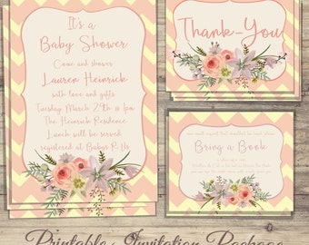 Spring Shower Invitations, Baby Sprinkle, Shower Invitations, Shower Invitations, Spring Invitations, Invitation Package, Shower Prints
