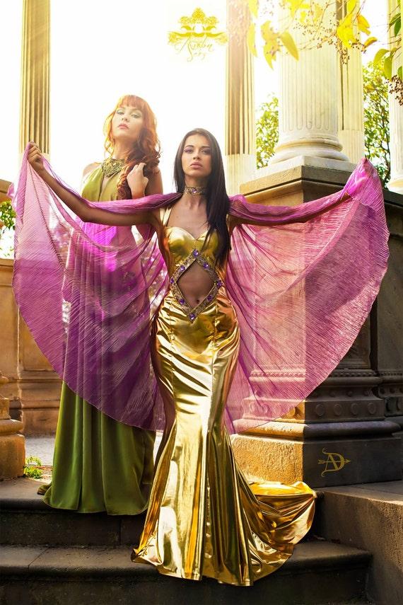 Cleopatra Goddess Isis Costume Bellydance Cosplay Oriental