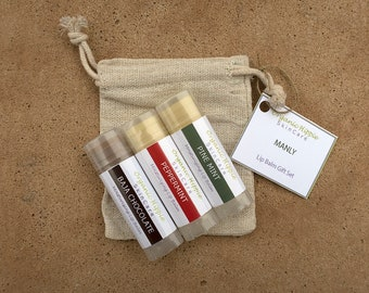 Manly Lip Balm Gift Set