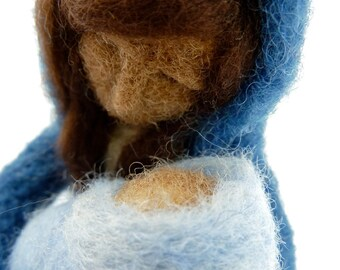Nativity, 9 Piece Felted Wool Nativity Set, made to order