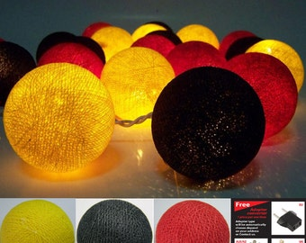 20 mixed honey color cotton ball string lights for,Party Home decoration