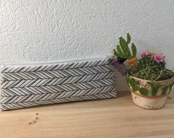 Clutch bag flat stripes