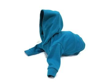 Teal Dog Hoodie-Teal Dog Sweatshirt-Teal Dog Sweater-Dog Clothes-Dog Sweater-Dog Clothing-Dog Shirts-Shirts for Dogs-Sweatshirts for Dogs