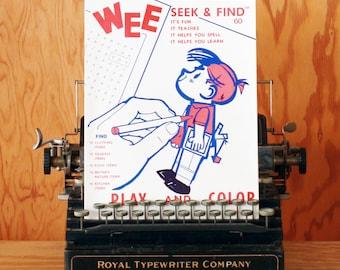 Vintage Wee Seek & Find Activity Book - Unused