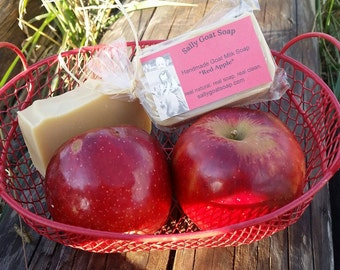 Red Apple Goat Milk Soap- All Natural Soap, Handmade Soap, Homemade Soap, Handcrafted Soap