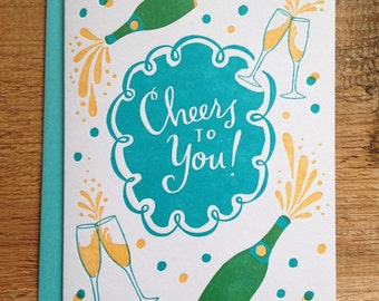 Cheers to You - Folded Card
