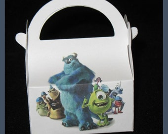 monsters inc favor boxes, monsters inc birthday boxes, sulley favor box, monsters inc party favor boxes