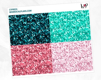 Cypress Glitter Headers | Matte Glossy Planner Stickers