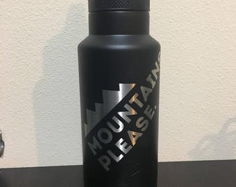 Custom 36oz Water Bottle / Thermos / Canteen - Any logo, Over 15 colors available
