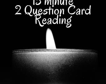 15 Minute 2 Question Card Reading Audio MP3 Same Day Psychic Witch / Tarot Oracle Love Romance Career True Love