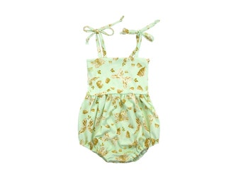 ORGANIC Bubble Romper, Sunsuit, Baby Bubble Romper, Toddler Bubble Romper, Baby Sunsuit, Toddler Sunsuit, Girls Romper, Butterfly, Flutterby
