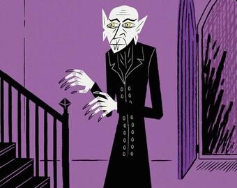 Nosferatu - Purple version - The Halloween Series - Limited Edition Print - iOTA iLLUSTRATiON