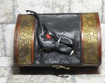Dragon Trunk Wooden Dice Box Treasure Chest Storage Desk Organizer Stash Harry Potter Box Dice Gamer Card Box 274