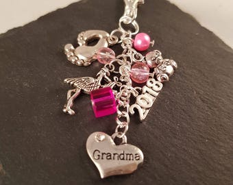 Grandma bag charm - new Grandma gift - Grandma gift - gift for Grandma - Grandma to be - gift for new Grandma - grandparent gift