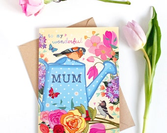 Mothers Day Card - Mother's Day Card - Mothers Day - Card for Mum - To My Wonderful Mum - Birthday Card for Mum - Best Mum Card - Mom Card