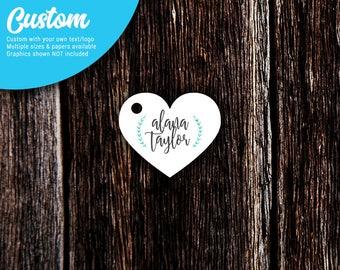 Heart Hang Tags | Custom Tags | Jewelry Tags | Favor Tags | Personalized Hang Tags | Heart Tags | SH225