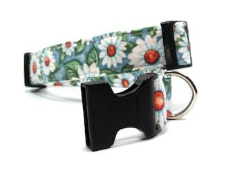 Custom Dog Collar Daisy Dog Collars Fabric Dog Collars Dog Accessories
