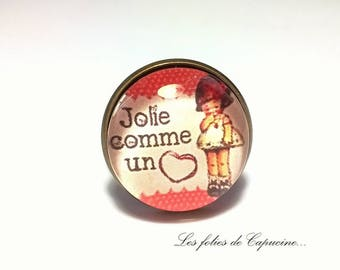 as a coeur• •jolie glass cabochon ring