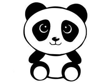 Baby Panda Window Decal / Panda Bear Computer Laptop Sticker Decal / Panda car Decal / Cute Panda Sticker / Panda Decal / Animal Sticker
