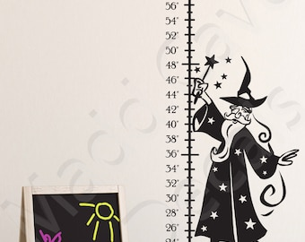 Wizard Growth Chart Wall Decal