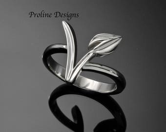 "Vegan ring-""The Vegan""- in Palladium Silver"