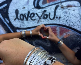 friendship bracelets - Say What You Want To Say --Say Anything On YOUR cuff. Custom  personalized jewelry by SimaG