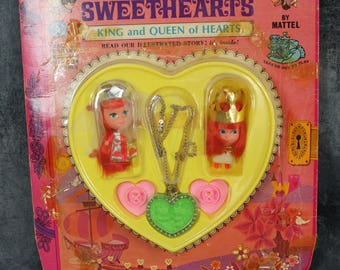 1968 Storybook Kiddles Sweethearts King and Queen of Hearts in Original Story Book Package